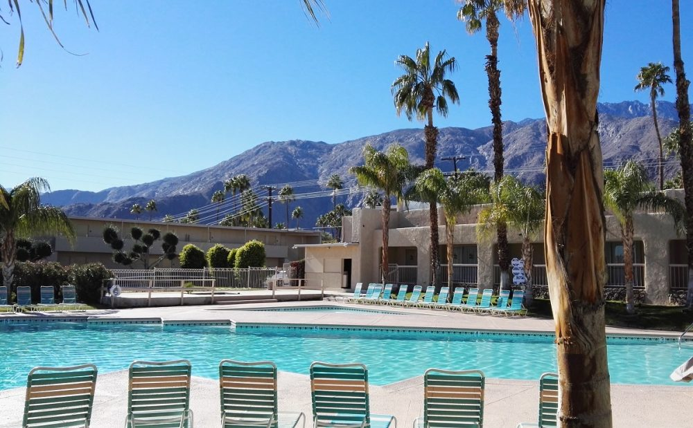 Pool view in Palm Springs