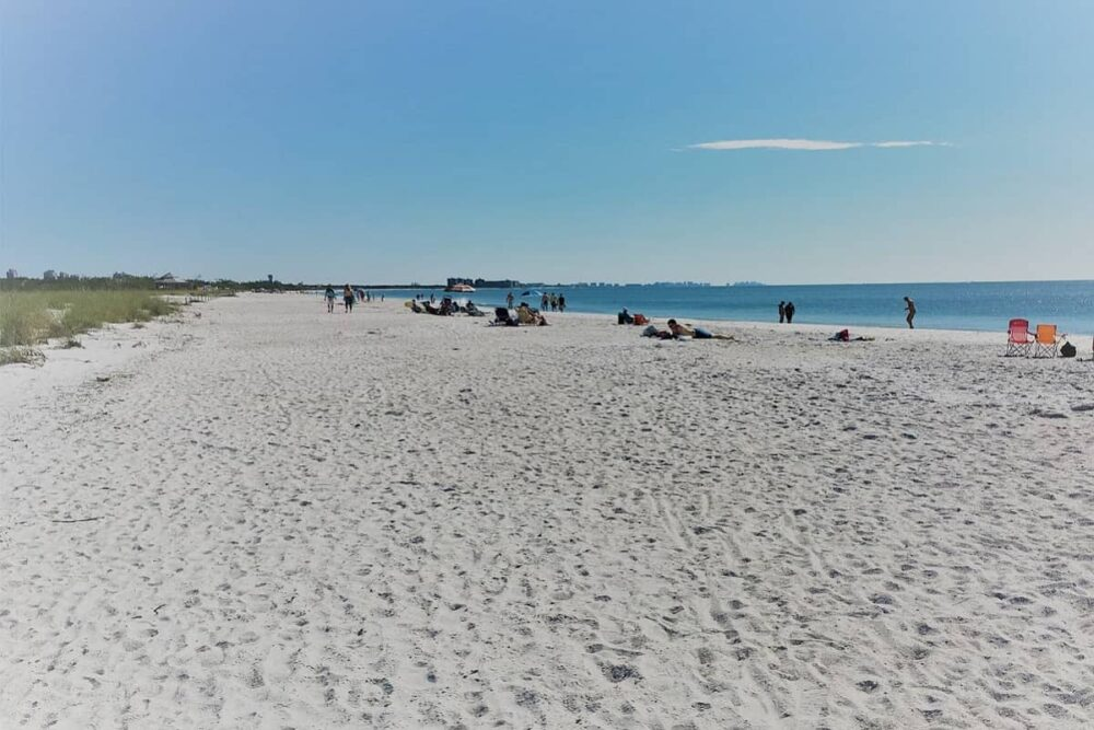 The beach in Lovers Key State Park.