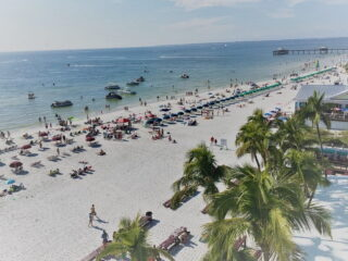 A beach day on Fort Myers Beach, Florida