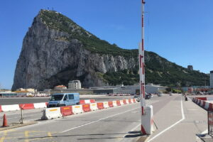 Cross the airport runway to enter, Gibraltar
