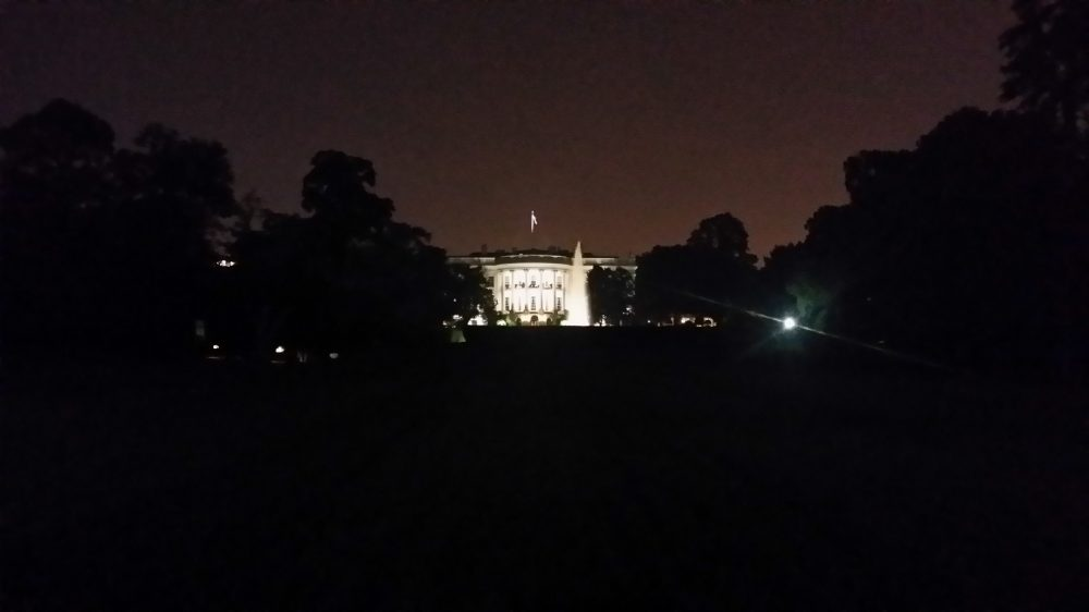 White House lighting up the walk in Washington