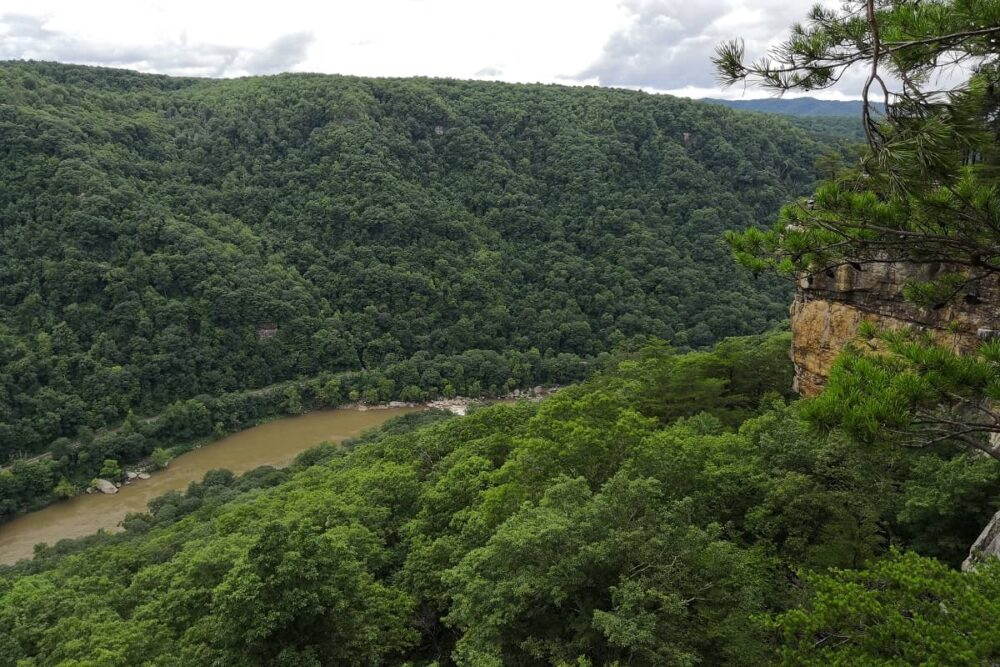 Beautiful Lookout over New River Gorge