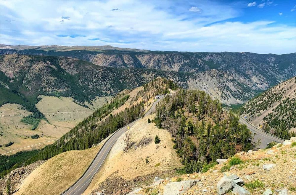 Mountain highway in Wyoming