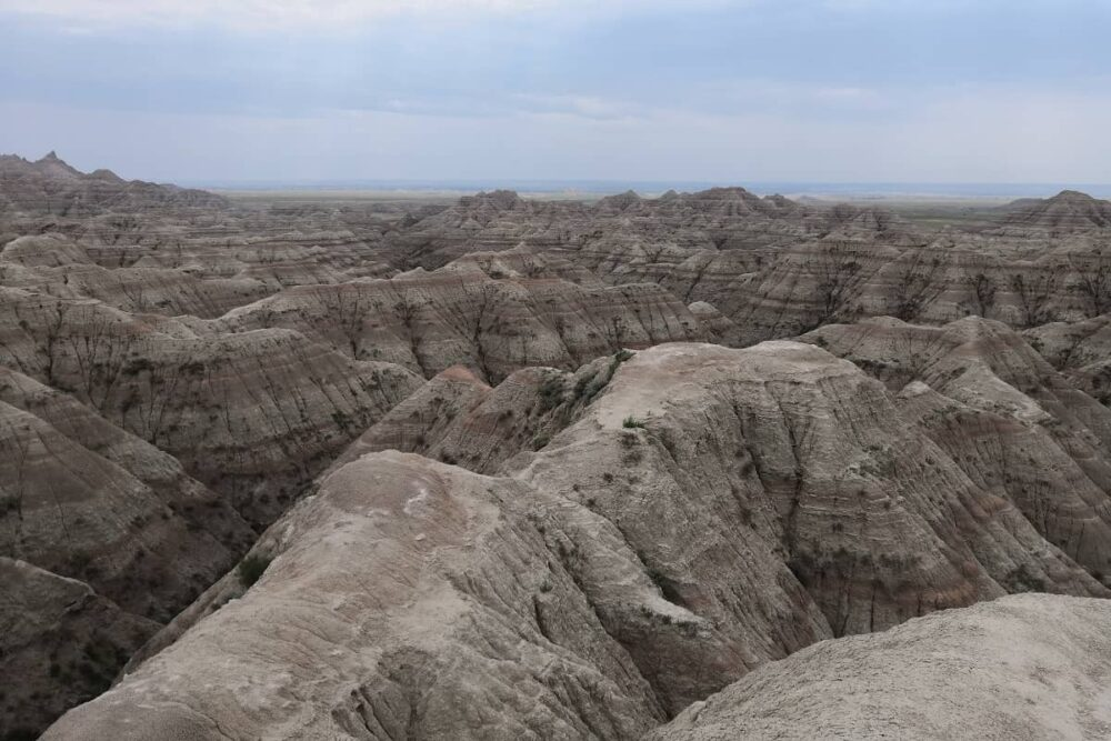 Huge rock formation in the Badlands.