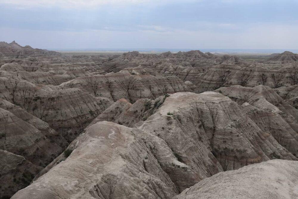 Huge rock formation in the Badlands.