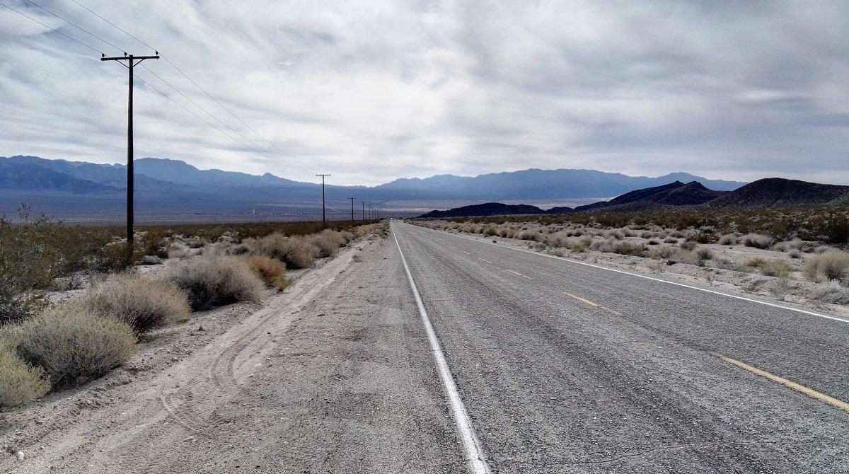 Straight road in Mojave National Preserve