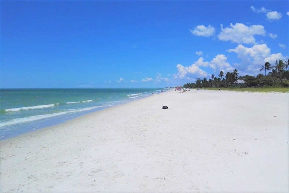 The beautiful beach in Naples
