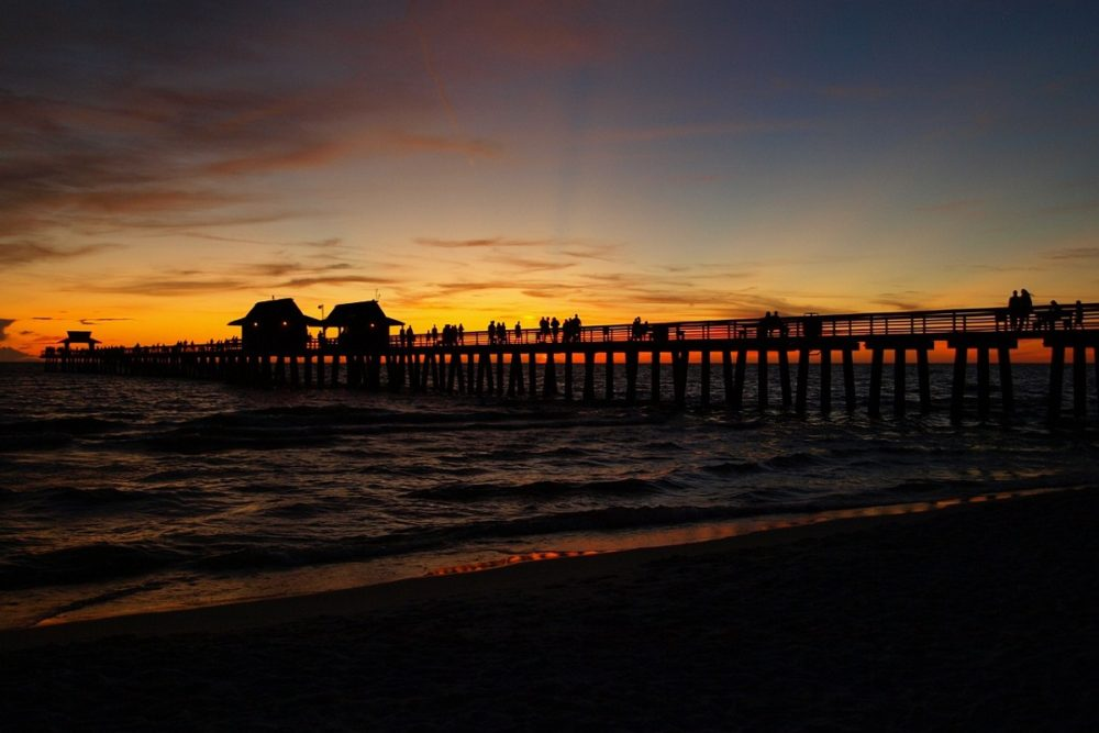 The beautiful Naples Pier at sunset