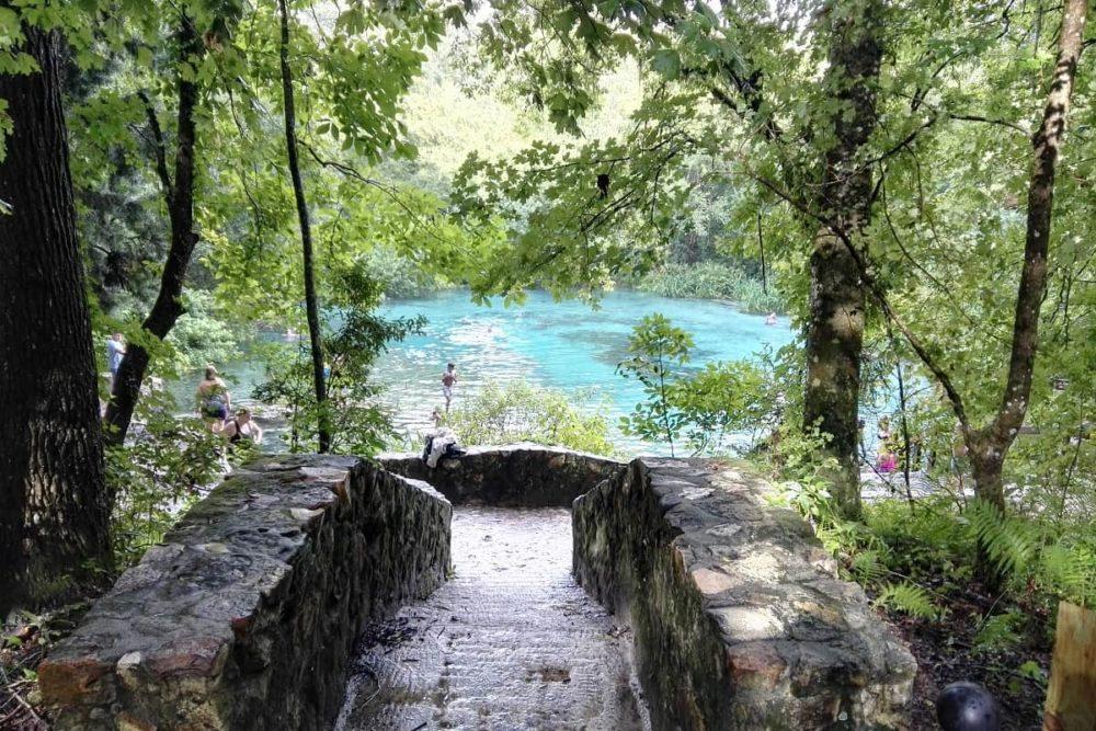 The blue Ichetucknee Springs in Florida