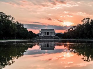 An evening walk in Washington, D.C