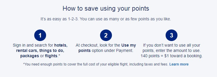 Expedia how to use points