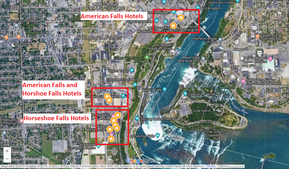Niagara Falls hotel categories