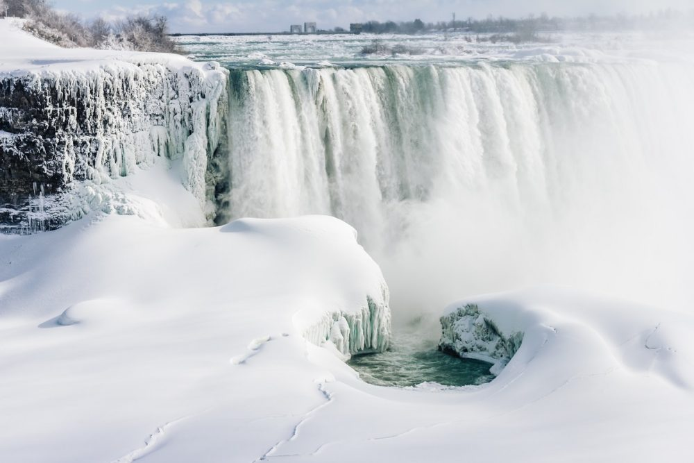 The falls during winter