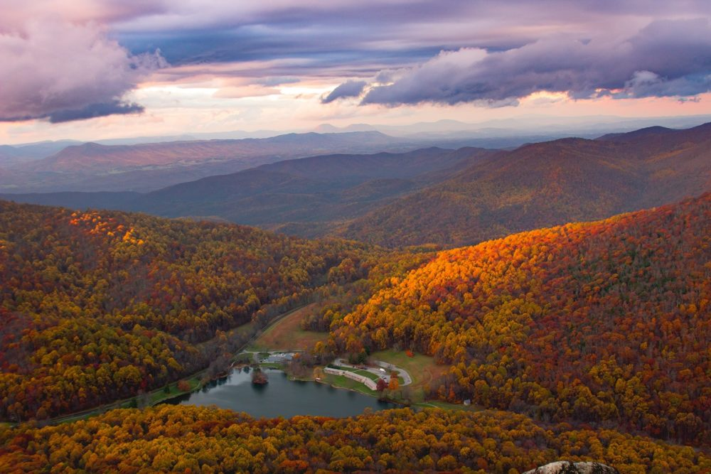 Fall colors at the Blue Ridge Mountains