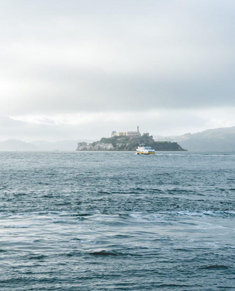 Alcatraz Prison of cross country road trip route