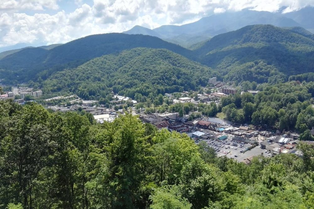 View over Gatlinburg, Tennessee