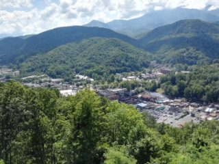 Spectacular surroundings in Gatlinburg, Tennessee