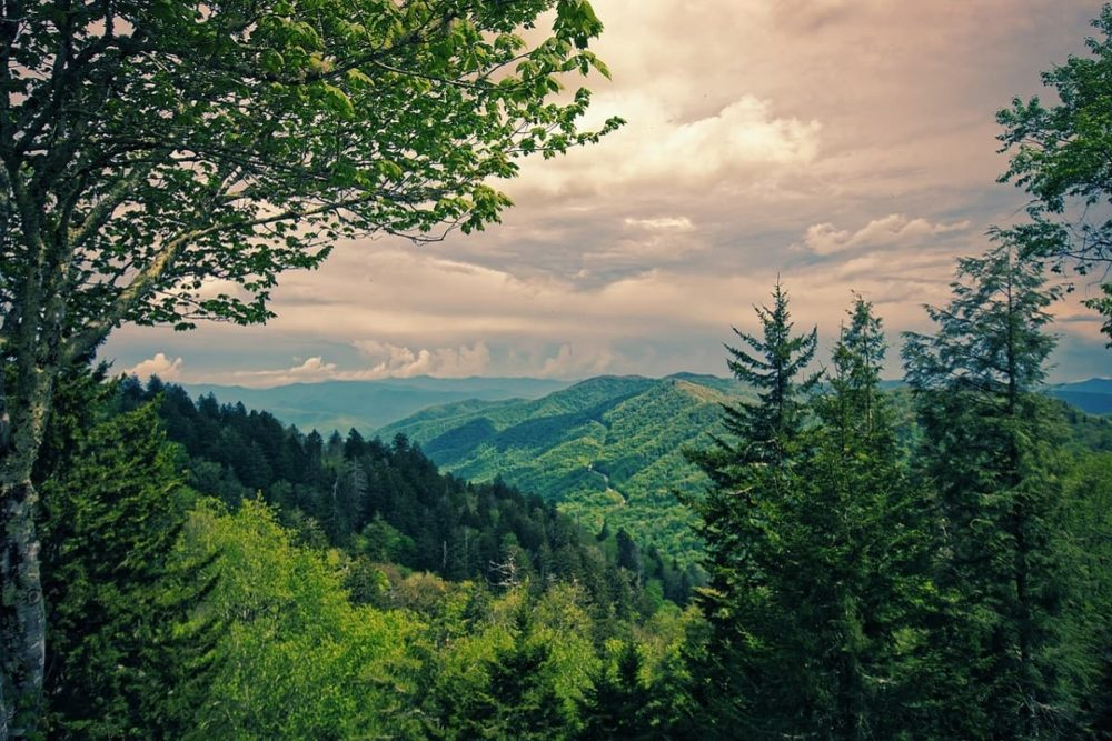 The Great Smoky Mountains after Blue Ridge Parkway road trip