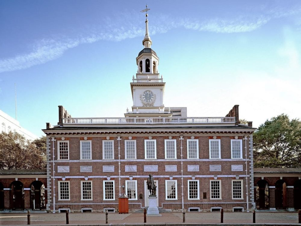 Cross country road trip stop at Independence Hall