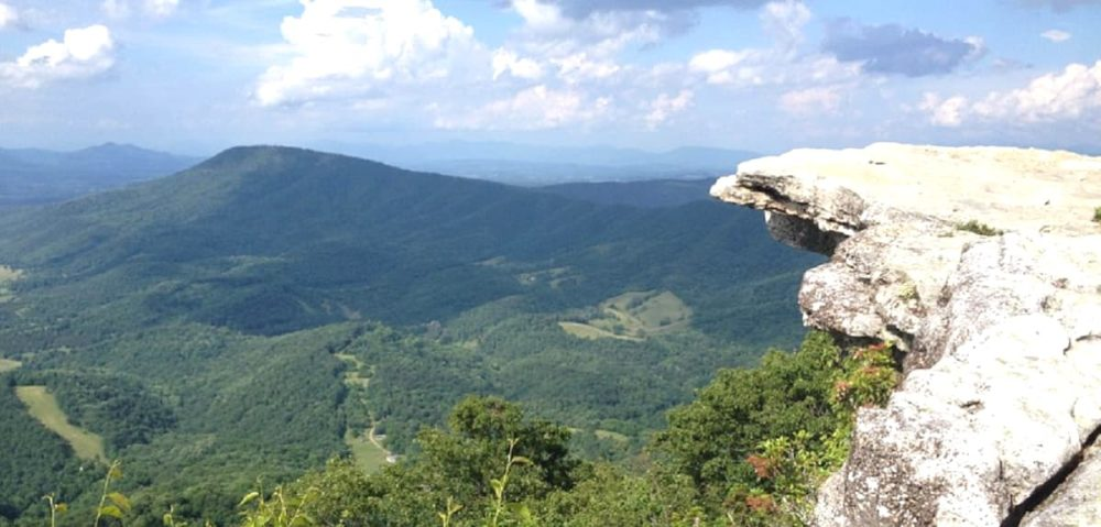 The McAfee knob during Blue Ridge Parkway road trip