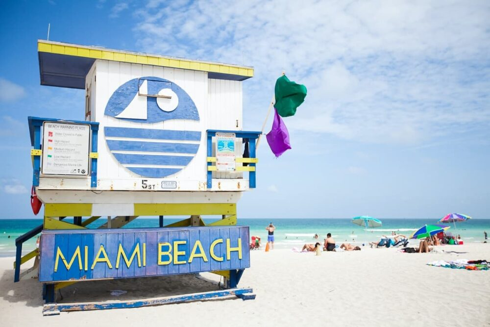 A Miami Beach tower marks the end of the southern road trip