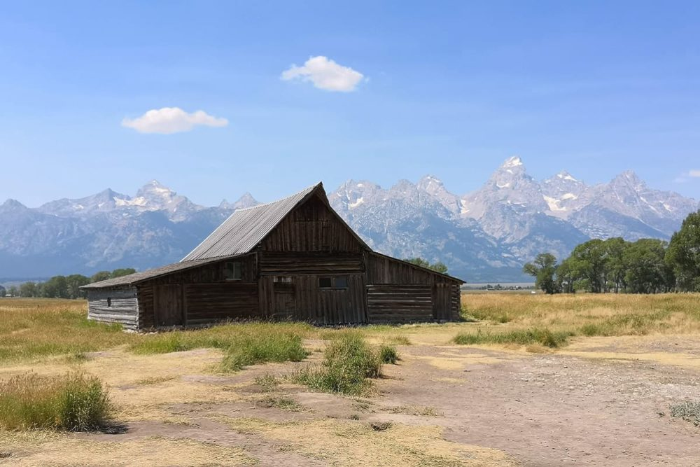 Barn at Grand Teton stop of road trip route