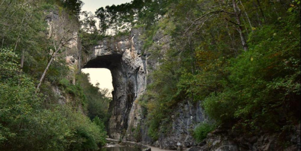 Natural Bridge on Blue RIdge Parkway road trip