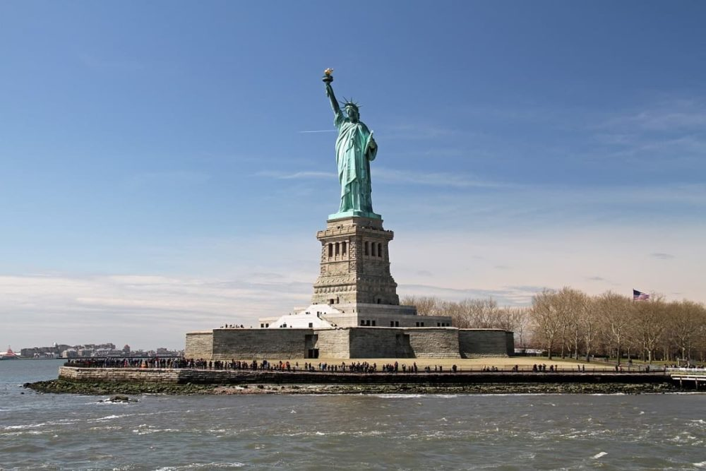 Statue of Liberty during cross country road trip