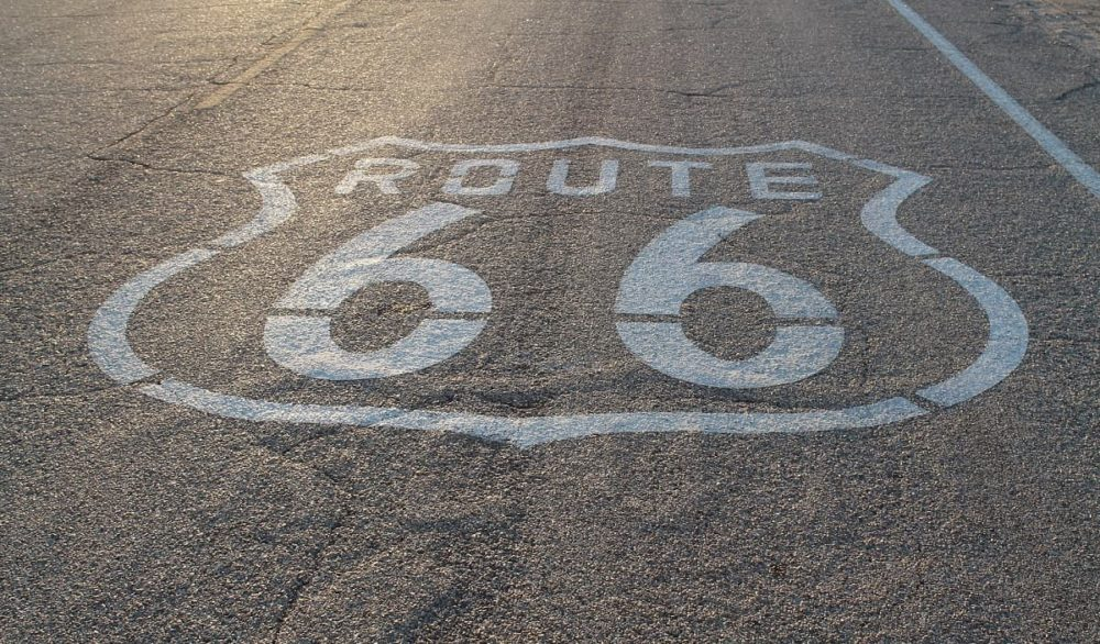 Route 66 of cross country road trip