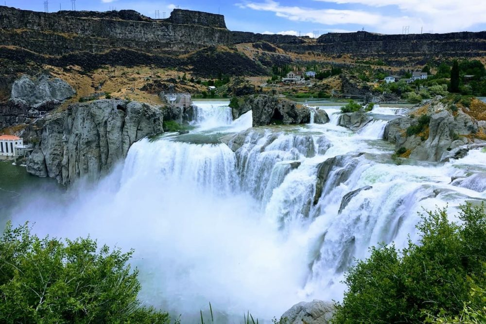 Shoeshone Falls stop of road trip route