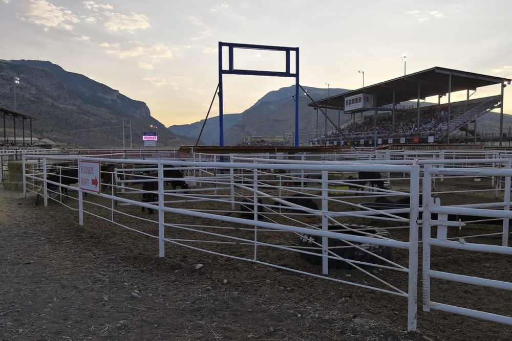The rodeo venue in Cody