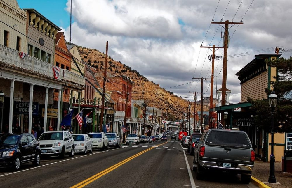 Road trip route through Virginia City