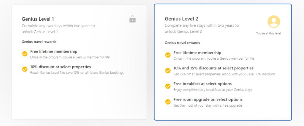 Booking Genius Progam Levels