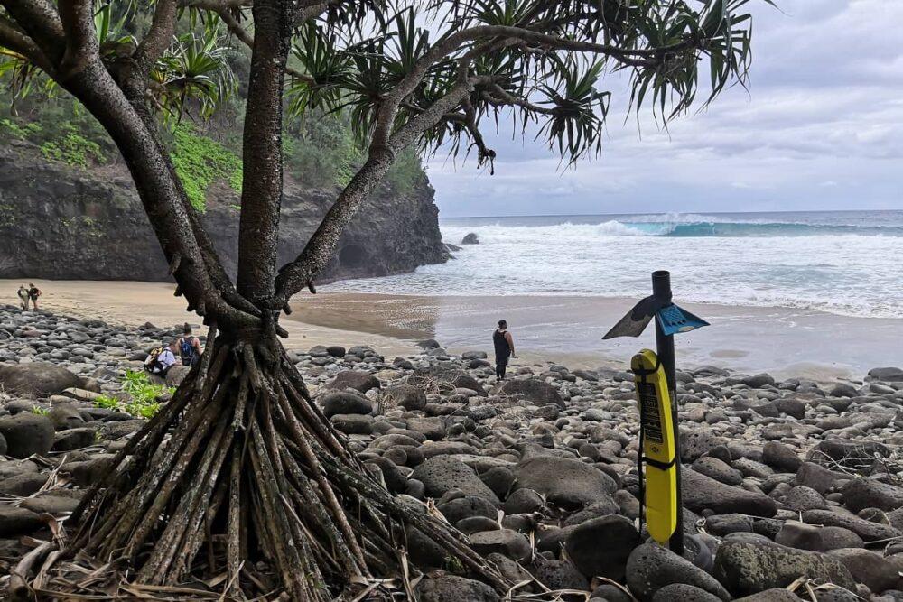 Hanakapiai Beach at Kauai hike