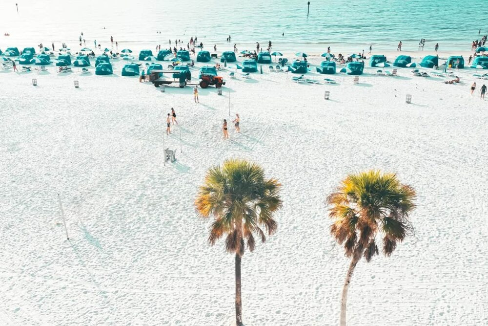 Clearwater Beach sand and blue water