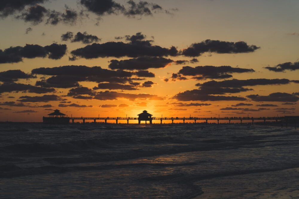 Sunset at Fort Myers Beach