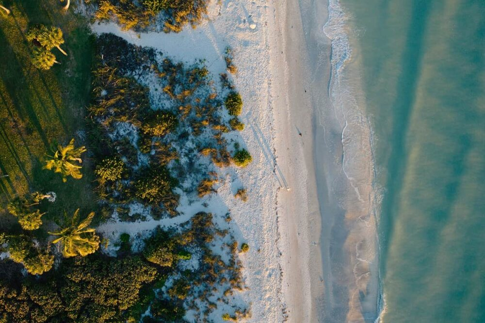 Sanibel Island beach walk