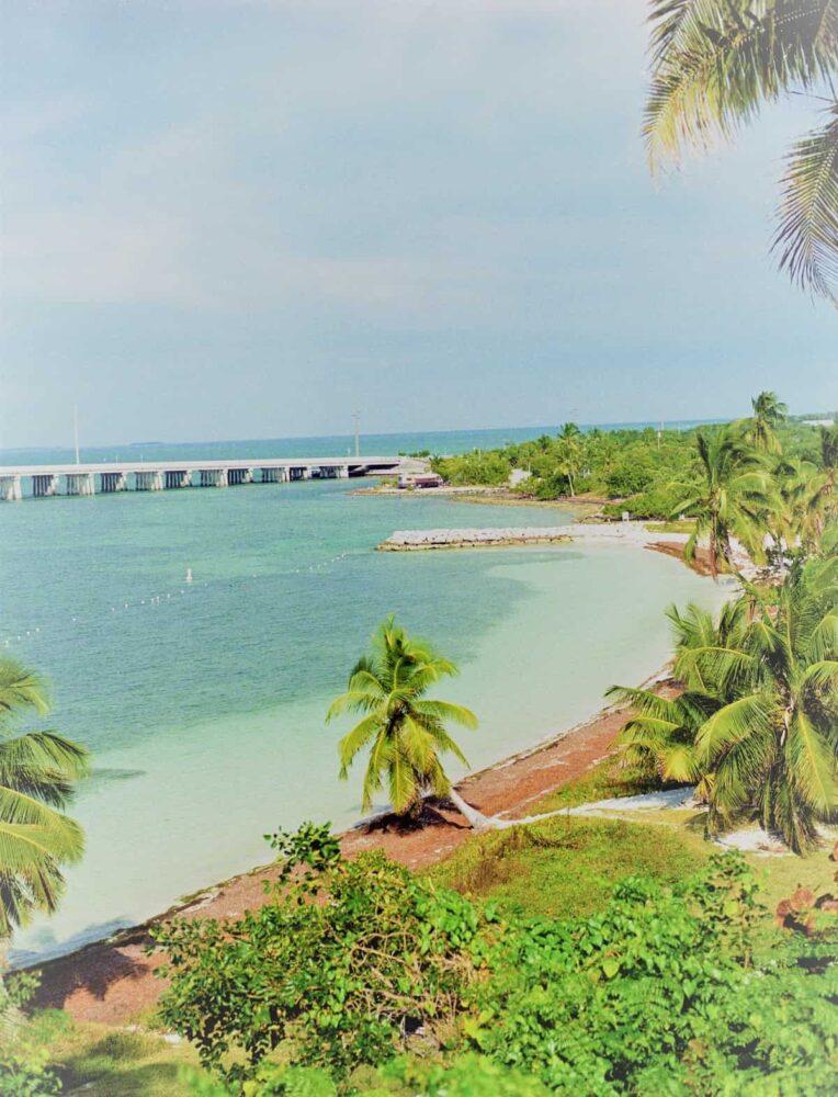 The beautiful Bahia beach on the drive to Key West