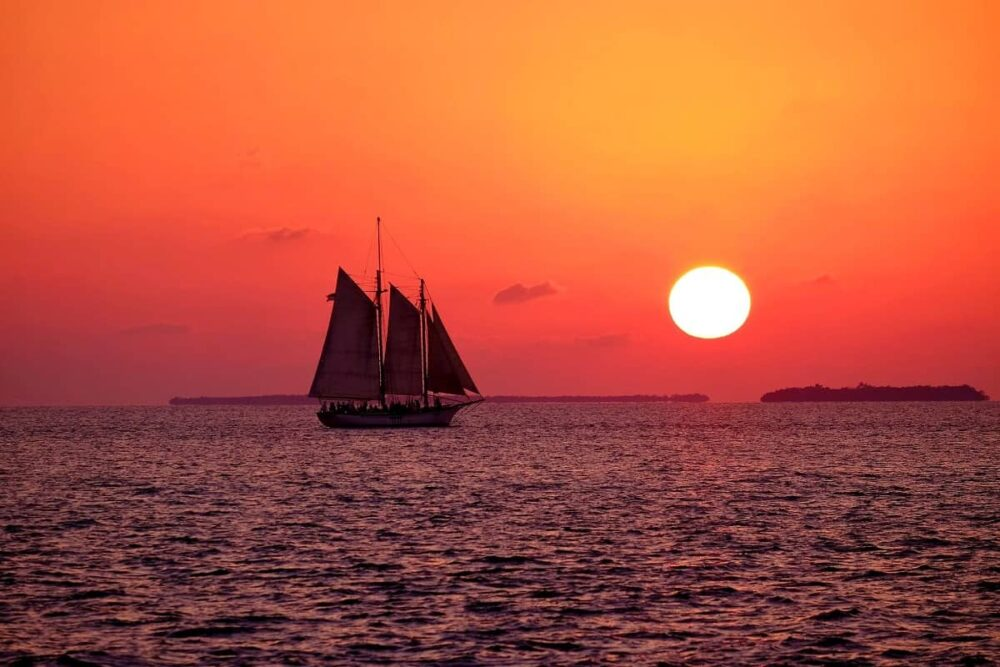 Red sunset in Key West