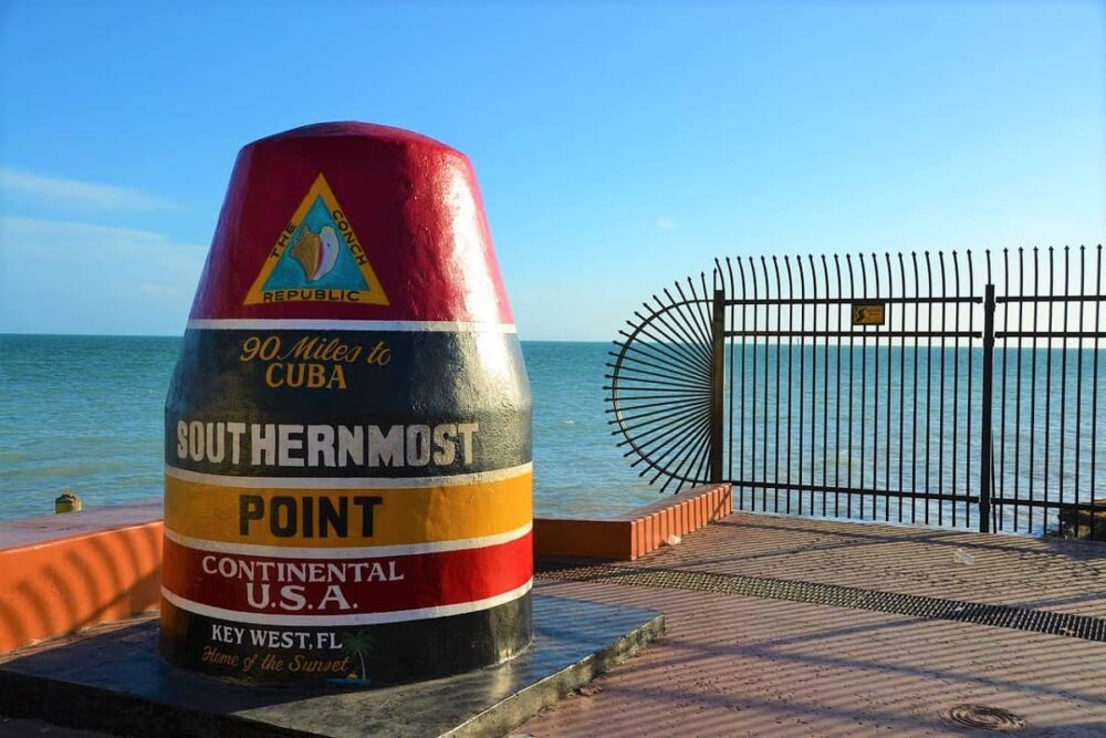 Buoy standing at dock in Key West