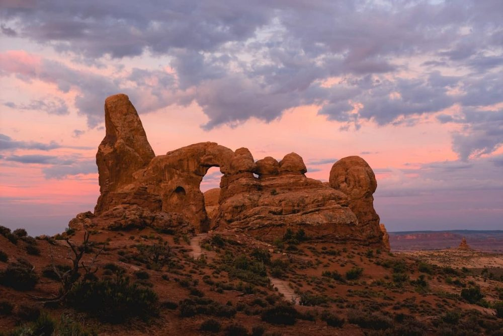 Arches NP at sunset