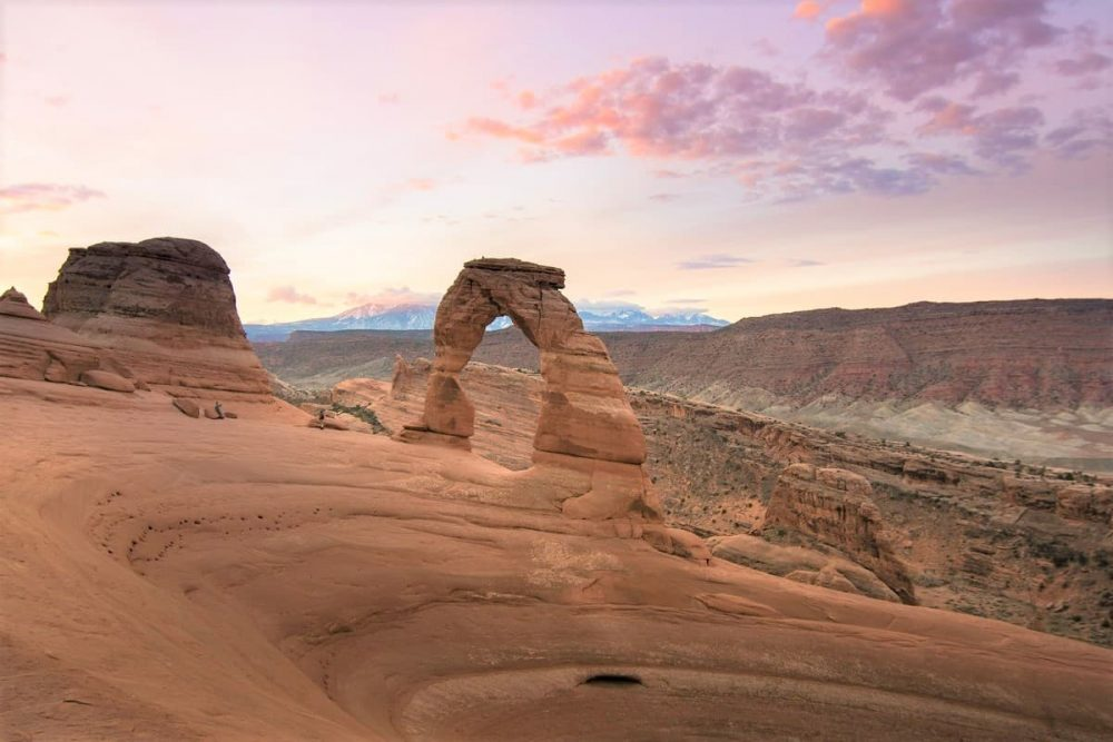 Delicate Arch on mighty 5 road trip