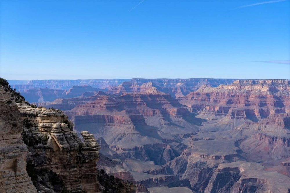 Grand Canyon overlook at South Rim during daytime