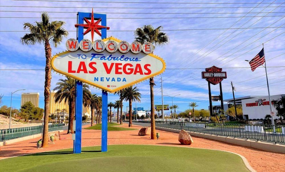 Las Vegas sign in Nevada