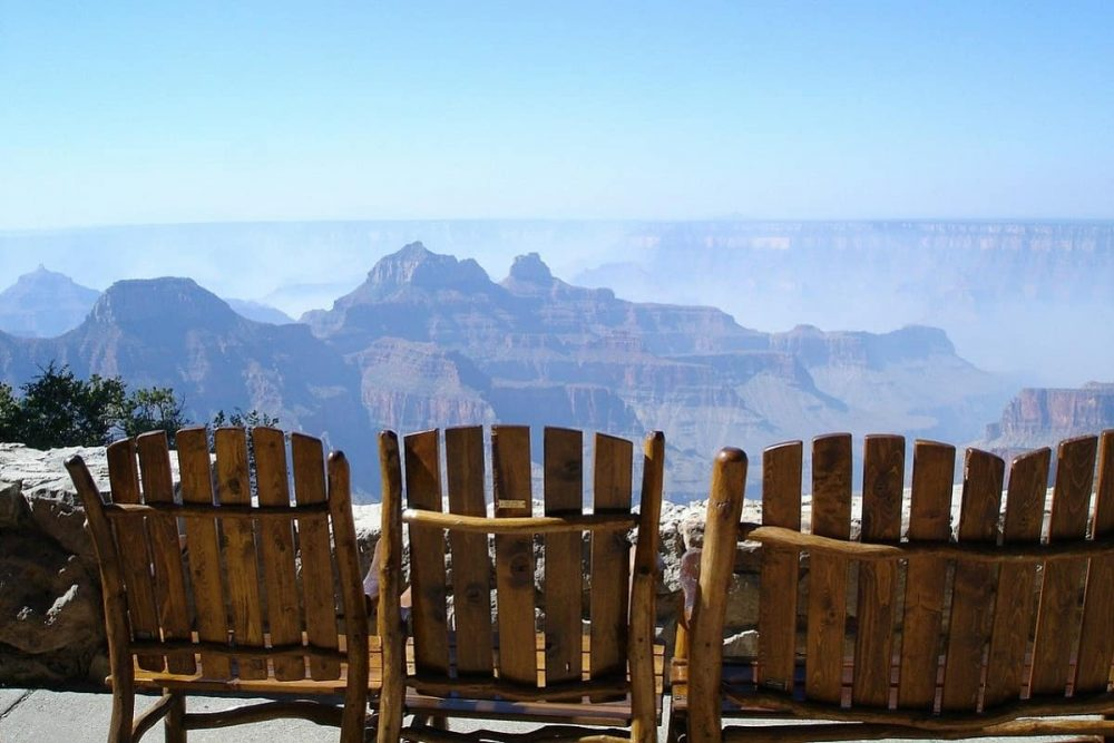 Chairs at Grand Canyon North Rim