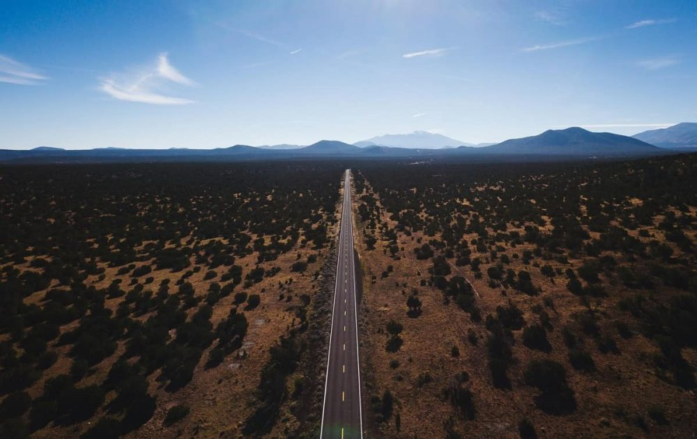 Road through nature during daytime