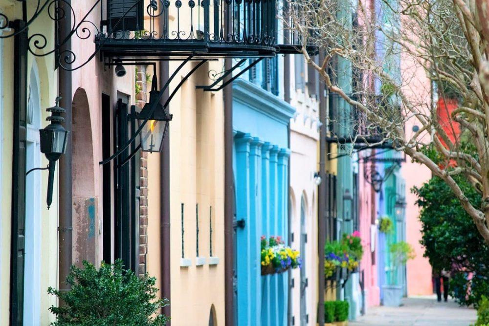 Colorful buildings in Charleston, SC