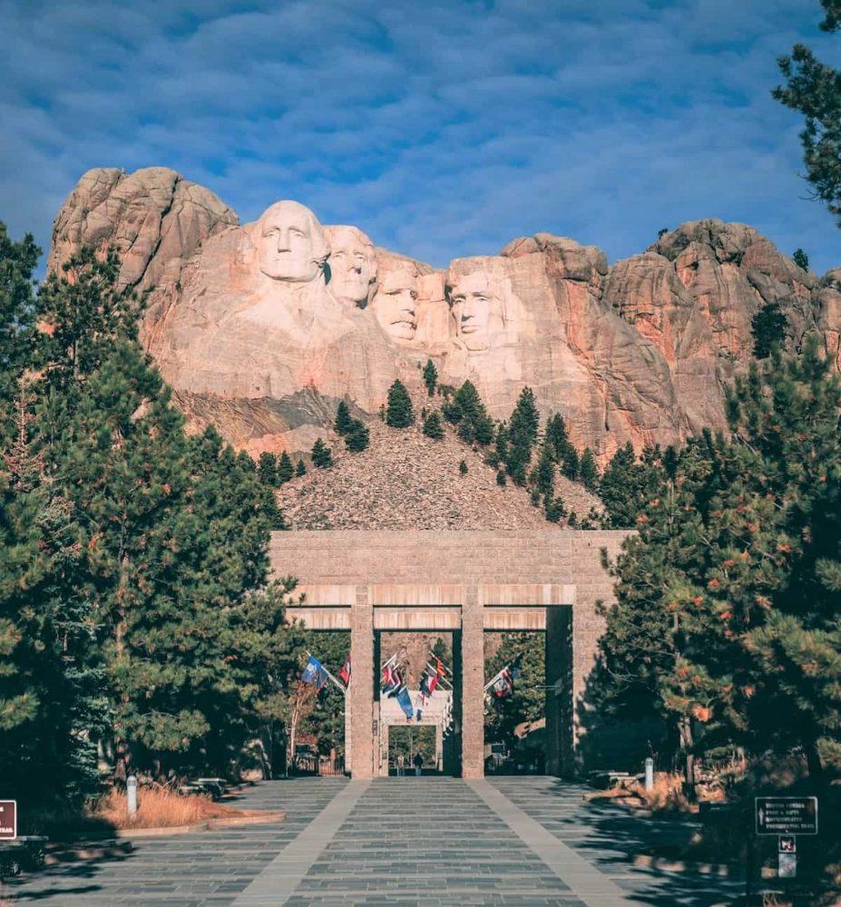Entrance to Mount Rushmore Memorial in Keystone
