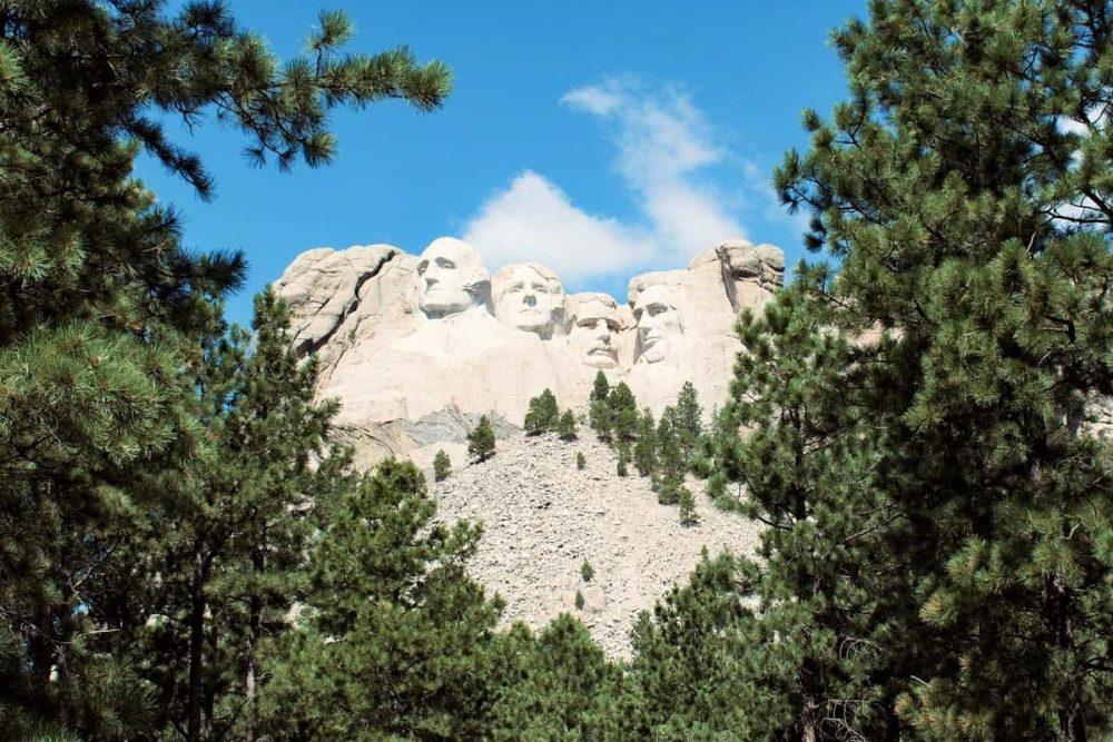 Mount Rushmore National Monument near Keystone in South Dakota