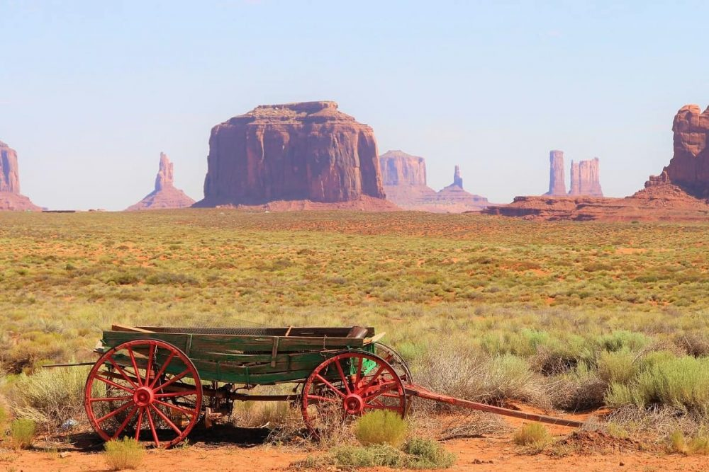 Wagon in Monument Valley Tribal Park